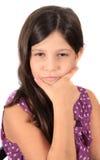 Muchacha bonita de ocho años Imagenes de archivo