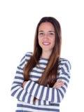 Muchacha bonita del adolescente con dieciséis años Fotos de archivo libres de regalías