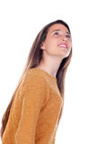 Muchacha bonita del adolescente con dieciséis años que miran para arriba Fotografía de archivo libre de regalías