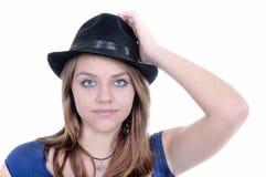 Muchacha bonita del adolescente que presenta en el estudio. Aislado Fotos de archivo libres de regalías