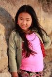 Muchacha bonita en color de rosa Fotos de archivo