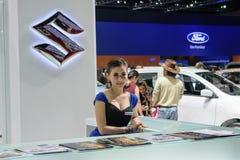 Muchacha bonita en el 36.o salón del automóvil internacional 2015 de Bangkok Fotos de archivo