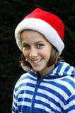 Muchacha bonita en el tiempo de Navidad Fotografía de archivo