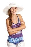 Muchacha bonita en la ropa del verano que sonríe brillantemente Fotografía de archivo libre de regalías
