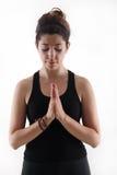 Muchacha bonita en tiempo de la yoga Fotografía de archivo libre de regalías