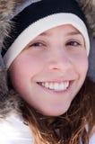 Muchacha bonita en un abrigo esquimal Foto de archivo