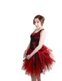 Muchacha bonita en una alineada del ballet. Fotos de archivo libres de regalías