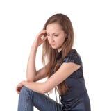 Muchacha bonita meditating Foto de archivo libre de regalías