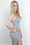 Muchacha bonita que lleva un vestido sexy Fotografía de archivo libre de regalías
