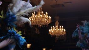 Muchacha brasileña de la danza del carnaval almacen de metraje de vídeo