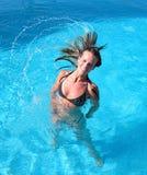 Muchacha bronceada joven atractiva   Imagenes de archivo