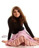 Muchacha Brown-haired fotos de archivo