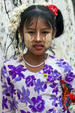 Muchacha Burmese Imágenes de archivo libres de regalías