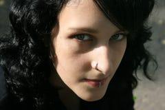 Muchacha cabelluda oscura Foto de archivo libre de regalías