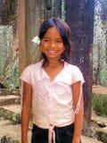 Muchacha camboyana imagen de archivo libre de regalías
