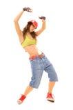 Muchacha camorrista en danza Fotografía de archivo libre de regalías