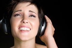 Muchacha cantante Fotos de archivo libres de regalías