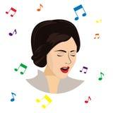 Muchacha cantante Ilustración del Vector