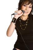 Muchacha cantante Imágenes de archivo libres de regalías