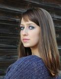 muchacha Castaño-cabelluda. imagenes de archivo