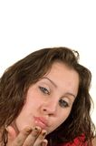 Muchacha caucásica adolescente Imagenes de archivo