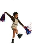 Muchacha Cheerleading Imágenes de archivo libres de regalías