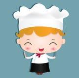 muchacha 00086_chef Fotos de archivo libres de regalías