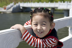 Muchacha china con sonrisa Foto de archivo