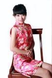 Muchacha china en alineada tradicional Fotografía de archivo
