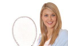 Muchacha cinco del tenis Imagen de archivo libre de regalías