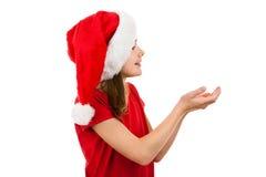 Muchacha como Papá Noel Fotografía de archivo libre de regalías