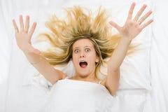 Muchacha completamente despierta Imagen de archivo libre de regalías