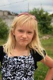 Muchacha con actitud Fotografía de archivo