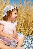 Muchacha con agua Imagen de archivo libre de regalías