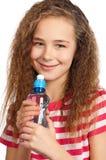 Muchacha con agua Fotografía de archivo libre de regalías