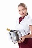 Muchacha con champán Foto de archivo libre de regalías