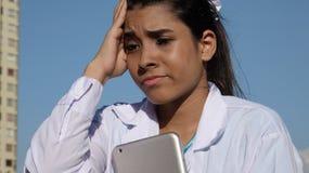 Muchacha con dolor de cabeza Foto de archivo
