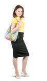 Muchacha con el bolso Imagen de archivo
