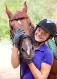 Muchacha con el caballo Imagenes de archivo