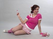 Muchacha con el caramelo Fotos de archivo libres de regalías