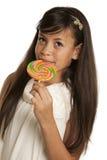 Muchacha con el caramelo Fotografía de archivo