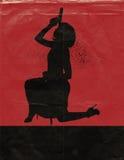 Muchacha con el cartel de película 2 del arma Imágenes de archivo libres de regalías
