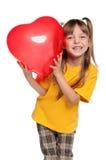 Muchacha con el corazón Fotos de archivo libres de regalías