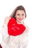 Muchacha con el corazón Foto de archivo libre de regalías