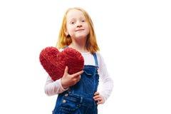 Muchacha con el corazón Imágenes de archivo libres de regalías