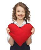 Muchacha con el corazón grande Foto de archivo libre de regalías