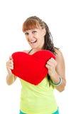 Muchacha con el corazón grande Imagen de archivo