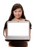 Muchacha con el cuaderno Imagenes de archivo