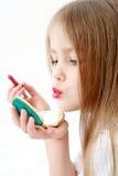 Muchacha con el espejo foto de archivo libre de regalías