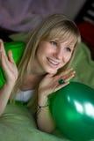 Muchacha con el globo Imagen de archivo